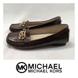 New Never Worn Michael Kors Leather Charm Flats